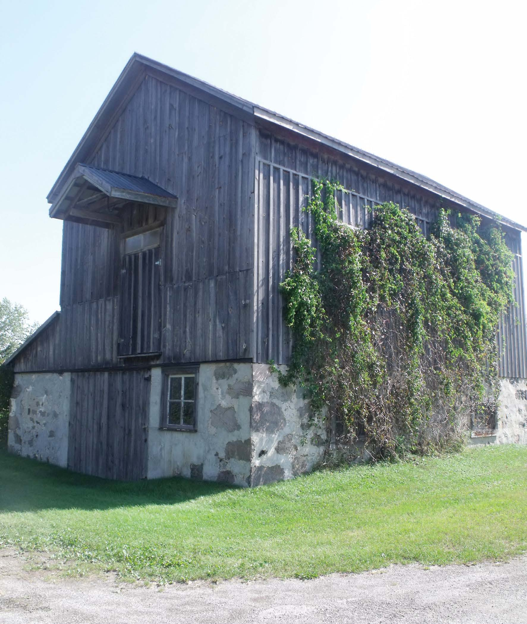 This barn-like structure (above) in Drayton was once used as a community hall or municipal building, owner Floyd Scheick believes.