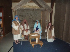 Manger Scene with Listowel Mennonite Church players