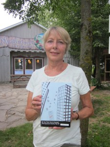 Jokelee Vanderkop  holds her book So You Think You're covered to be launched September 14.