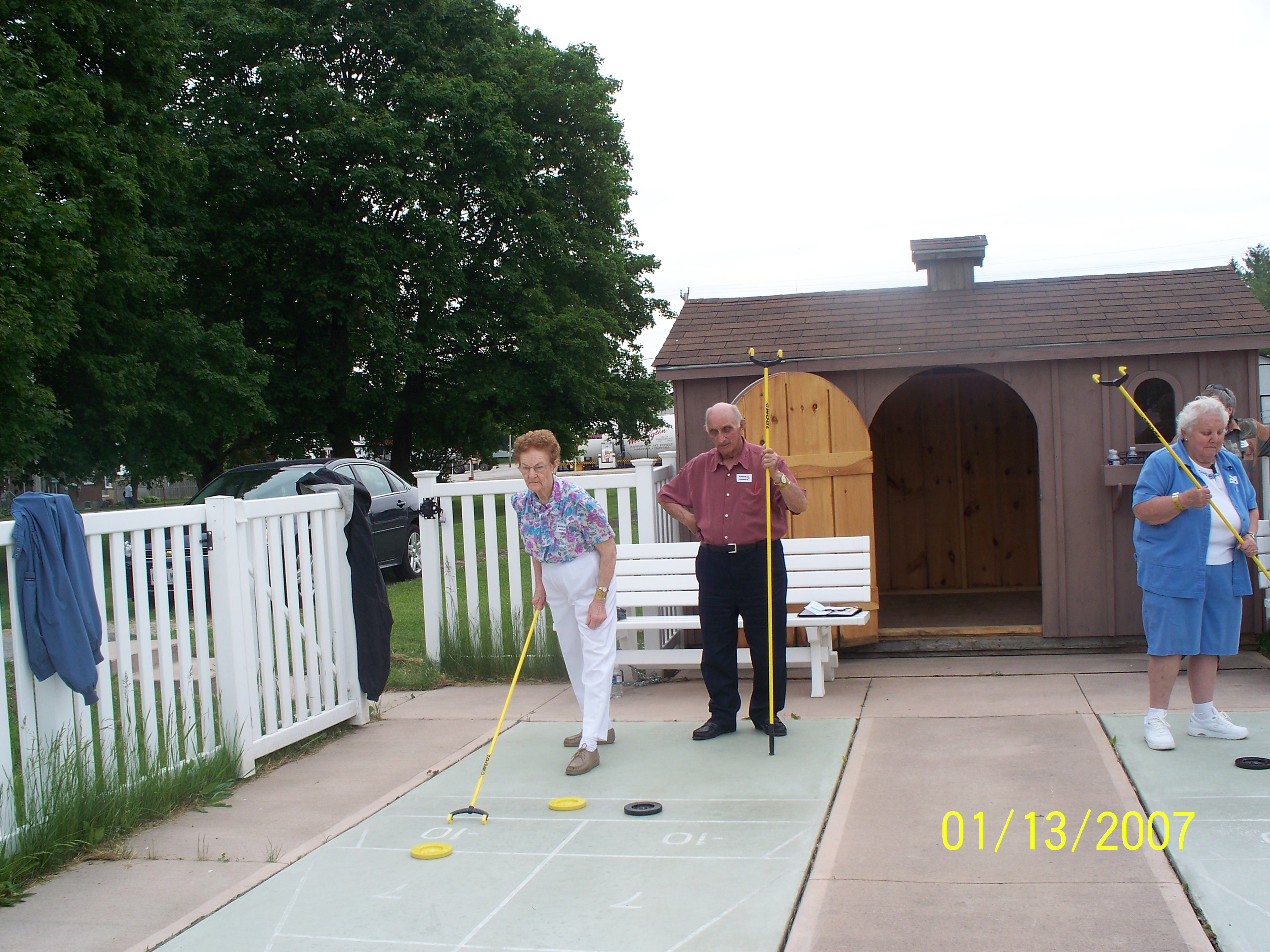 Shuffleboard was among the more popular events at the Seniors Olympics in Minto this summer.