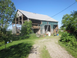 Barn Removal started before 7a.m.