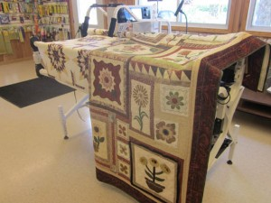 Electric quilting machine at Creekbank Sewing Machine Shop