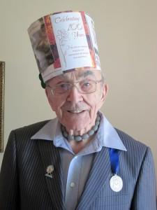 Maurice Audet in Birthday Hat