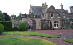 This is Sir Walter Scott's home in the Borders region of Scotland located near places like Teviotdale, Hawick and Minto's Craig. He wrote the book Kenilworth which incorporates Scottish history with a fictional tale.