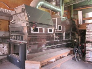 Syrup Evaporator at Riverside Maples