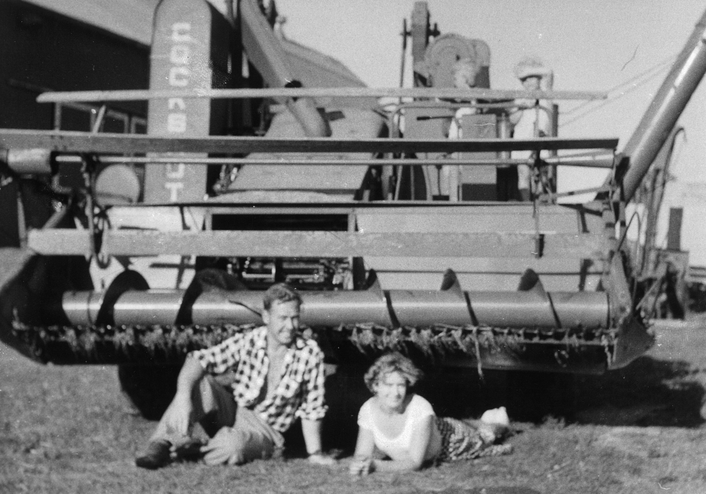 Carole Naylor and husband, John on the Owen Sound area farm where John worked after coming to Canada from England in 1957.