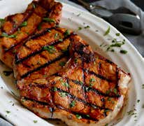 Grilled Carribean Spiced Pork Chop