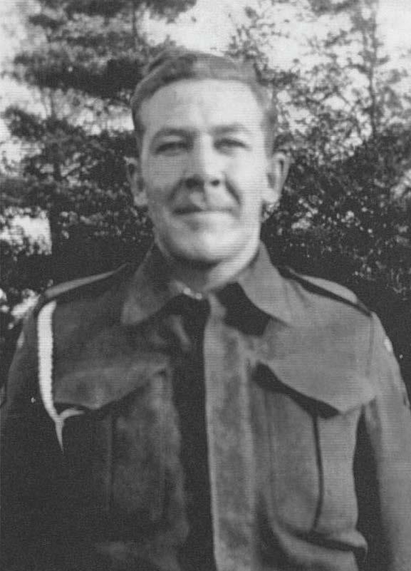 Pte. Glen Tomlin in uniform during WWII